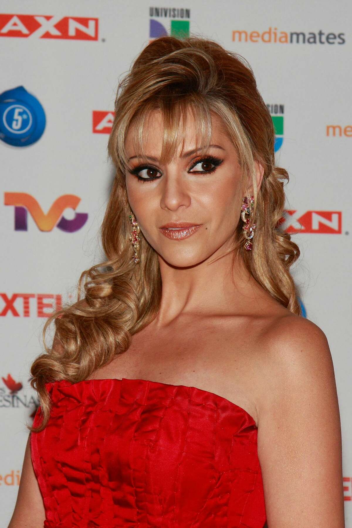 Actress Daniela Castro poses for a photo during the premiere of the television series 'Mujeres Asesinas' second season ('Killer Women', in Spanish)) at the facilities of San Angel Televisa on July 12, 2009 in Mexico City, Mexico. (Photo by Daniel Cardenas/Jam Media/LatinContent/Getty Images)