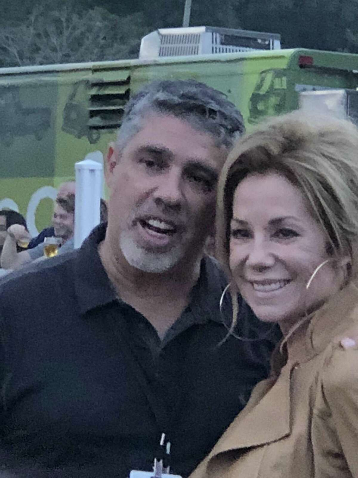 """""""Howard Stern Show"""" producer Gary Dell'Abate and """"Today"""" show co-host Kathie Lee Gifford poset at the Greenwich Wine + Food Festival last weekend in Greenwich."""