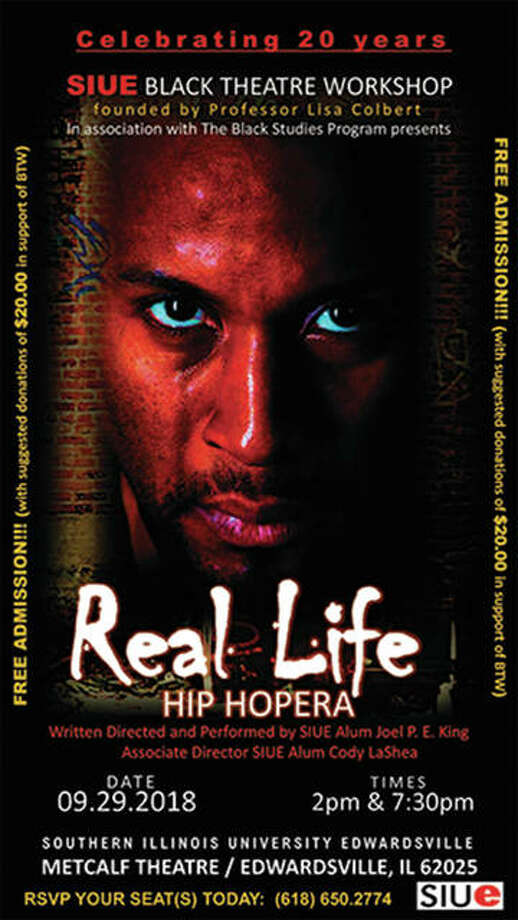"""Real Life"" hip hopera will be on stage Saturday, Sept. 29 at SIUE's Metcalf Theatre. Photo: SIUE Photo"