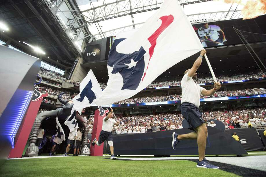 Houston Texans players are led onto the field before an NFL football game against the New York Giants Sunday, Sept. 23, 2018, in Houston. Photo: Eric Christian Smith, FRE / Associated Press / Copyright 2018 The Associated Press. All rights reserved.