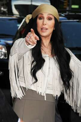 Cher outside the Ed Sullivan Theater in New York on May 6, 2015. (MM/Abaca Press/TNS)