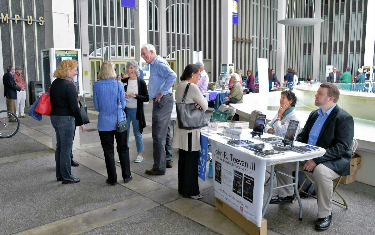Authors and aficionados mingle during the Albany Book Festival at UAlbany Saturday Sept. 29, 2018 in Albany, NY. (John Carl D'Annibale/Times Union)