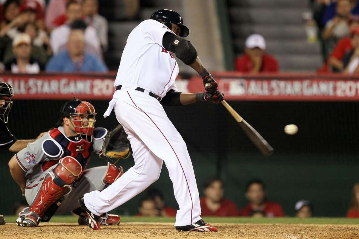 ANAHEIM, CA - JULY 13: American League All-Star David Ortiz #34 of the Boston Red Sox at bat during the 81st MLB All-Star Game at Angel Stadium of Anaheim on July 13, 2010 in Anaheim, California. (Photo by Stephen Dunn/Getty Images) *** Local Caption *** David Ortiz