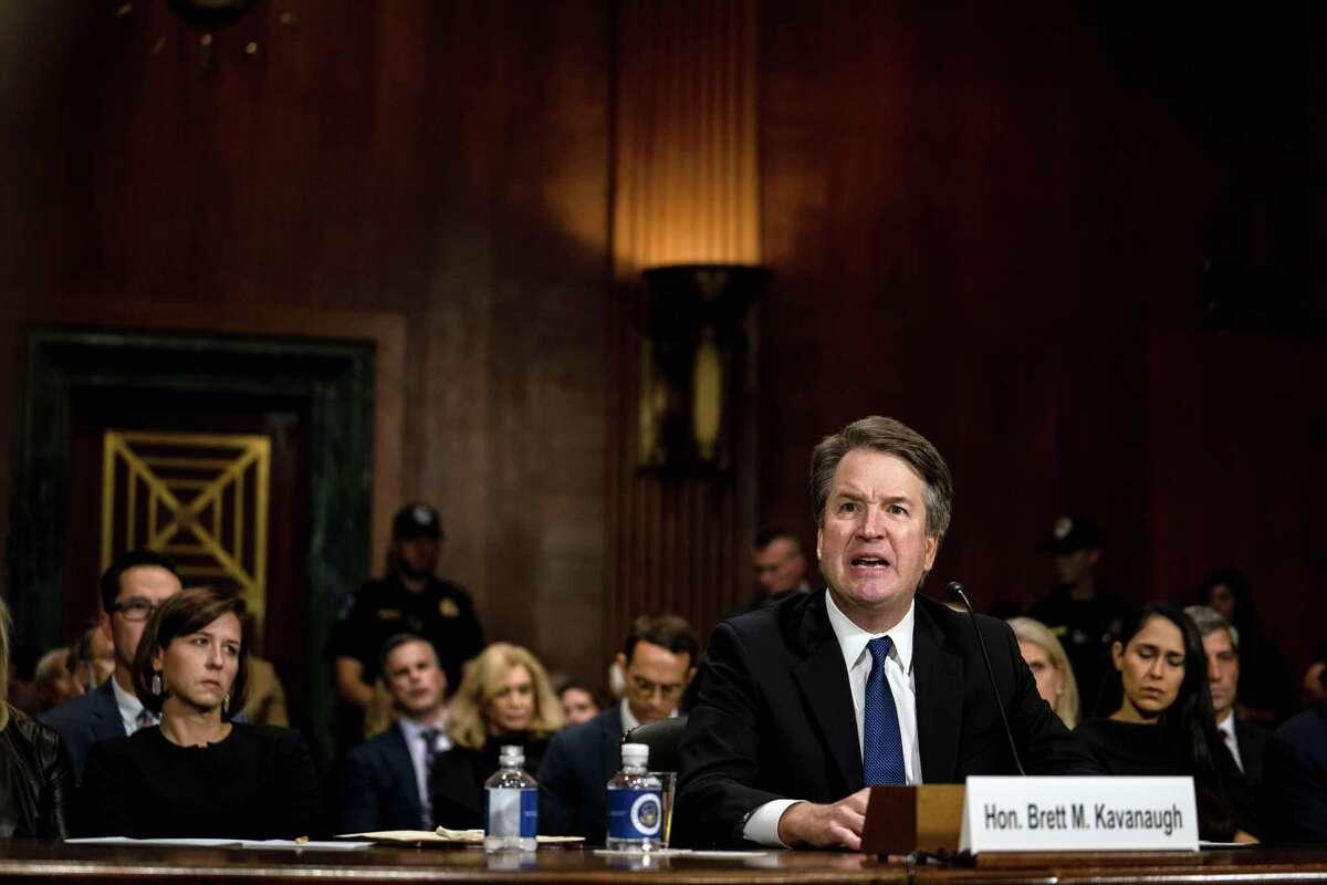 Judge Kavanaugh testifies before the Senate Judiciary Committee in Washington on Thursday, Sept. 27, 2018.