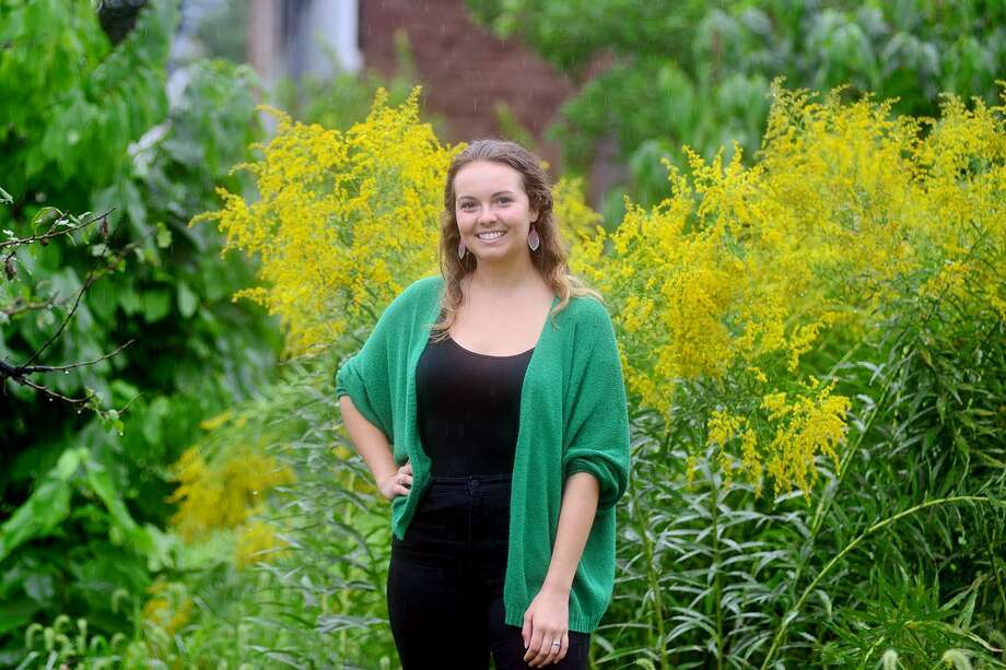 Ingrid Eck 19 is working to certify the city of Middletown by Sustainable CT, which recognizes thriving and resilient Connecticut municipalities. An independently funded, grassroots, municipal effort, Sustainable CT provides a wide-ranging menu of best practices. Photo: Olivia Drake Photo