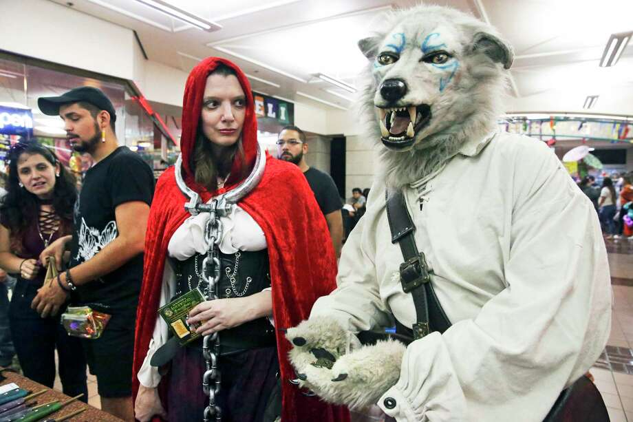 little red riding hood is held captive by the wolf at the sixth annual monster