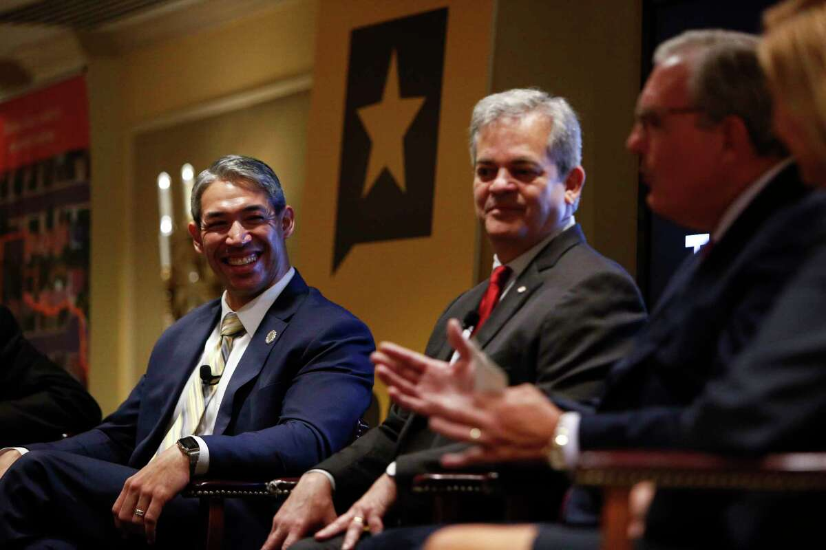 """Mayor Ron Nirenberg, left, attended his second Texas Tribune Festival as the head of San Antonio. He sat on a panel with Austin Mayor Steve Adler, El Paso Mayor Dee Margo and former Irving Mayor Beth Van Duyne, who now serves as President Trump's regional administrator for HUD. Titled """"The Way Forward is Urban,"""" the panel discussed what cities are doing to move forward while their state and federal counterparts may be seeking alternative goals or outcomes. Mayor Nirenberg felt that the panel was a """"candid and sobering look at the challenges"""" faced by cities in Texas and was happy with the """"depth of the conversation"""" the panel managed to achieve on housing reform and the challenges surrounding it."""