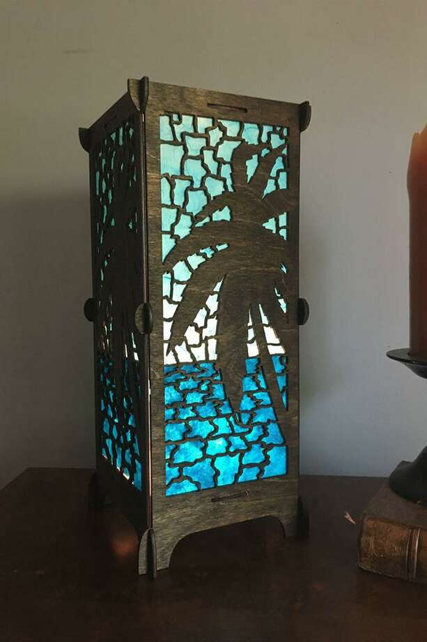 Artist Peter Katz is inspired by the colors and scenes of the Caribbean in his new lamp-making business.