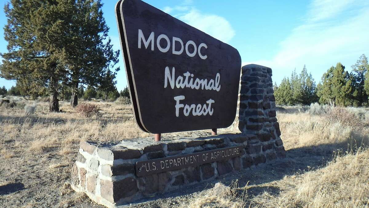 An entry point into the Big Sage area of remote Modoc National Forest, where 5,000 wild horses now roam free