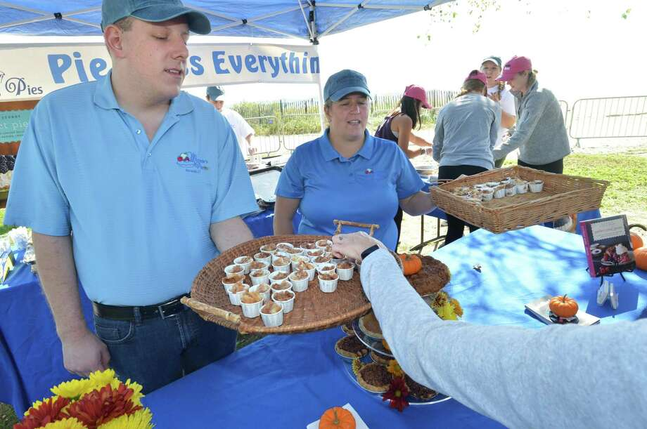 Thousands enjoy a day of sampling some of the best chowder in the area during Chowdafest 2018 at Sherwood Island State Park on Sunday September 30, 2018 in Westport Conn. Nearly 40 invited restaurants compete in five different categories for top honors during the annual event. The primary benefit charity is Food Rescue U.S. which rescues unused food from restaurants, grocery stores and farms, and distributes to the shelters in need. Photo: Alex Von Kleydorff / Hearst Connecticut Media / Norwalk Hour