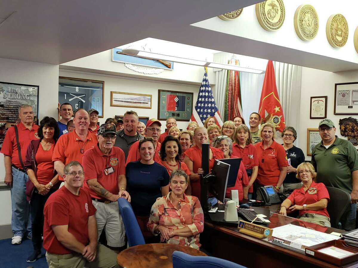 Provided Thirty-seven volunteers from the Capital Region gather at the Pentagon following a tour.