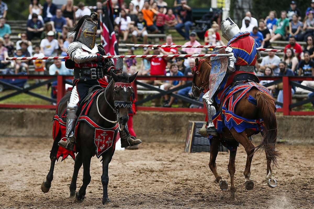 Attend the Texas Renaissance Festival in Todd Mission, Texas.