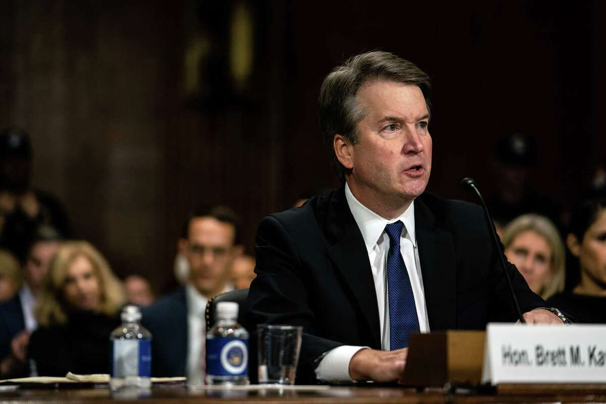 Judge Brett Kavanaugh testifies before the Senate Judiciary Committee in Washington, Sept. 27, 2018. A Yale classmate of Kavanaugh?'s made a statement where he accused Kavanaugh of a ?