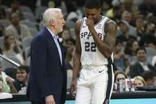Veteran forward Rudy Gay, right, is finally fully healed from a torn Achilles he suffered in January 2017.