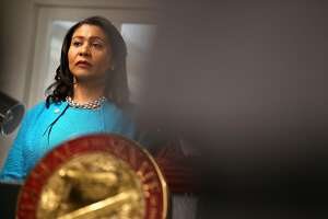 SAN FRANCISCO, CA - SEPTEMBER 04:  San Francisco mayor London Breed looks on during a news conference to show support for safe injection sites within city limits at HealthRIGHT 360 on September 4, 2018 in San Francisco, California. San Francisco mayor London Breed joined local and state lawmakers in supporting Assembly Bill 186 which would allow safe injection sites in San Francisco. The bill, authored by state assemblymemeber Susan Eggman and state senator Scott Wiener, creates a 3-year pilot program for supervised drug consumption programs.  (Photo by Justin Sullivan/Getty Images)