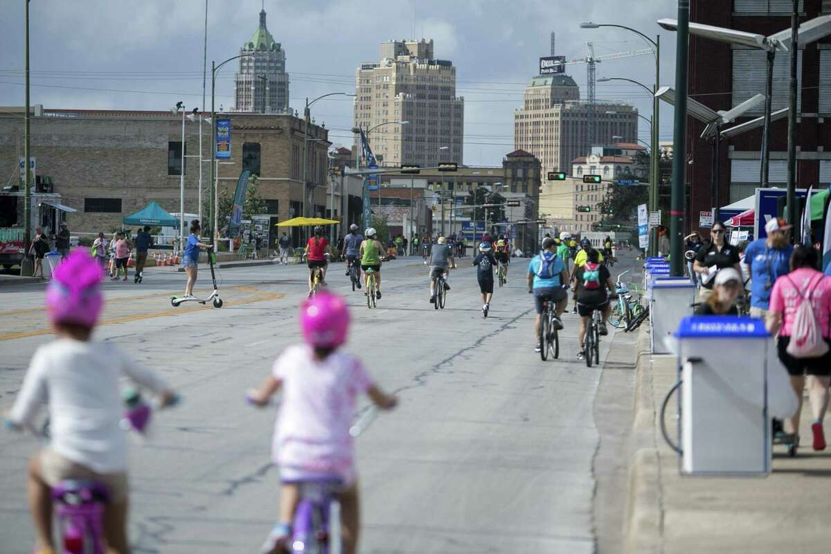 Síclovía: multiple locations, ymcasatx.org/programs/community/siclovia. Síclovía is a family-friendly community event during which designated city streets are closed off for walking, biking, exercise classes and children's activities. See Síclovía's website for event map. 11 a.m.-3 p.m. Sunday.