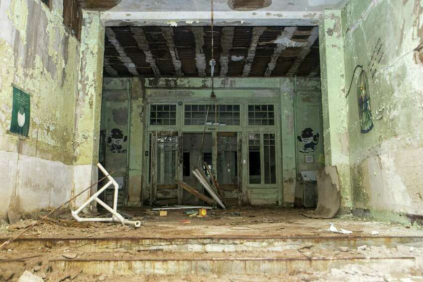 The view from the front entry of the abandoned Beacon Hill Elementary in San Antonio on Sept. 27, 2018.
