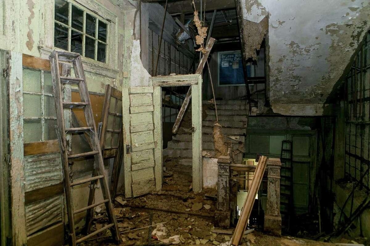 Inside the abandoned former Beacon Hill Elementary in San Antonio Thursday, Sept. 27, 2018.