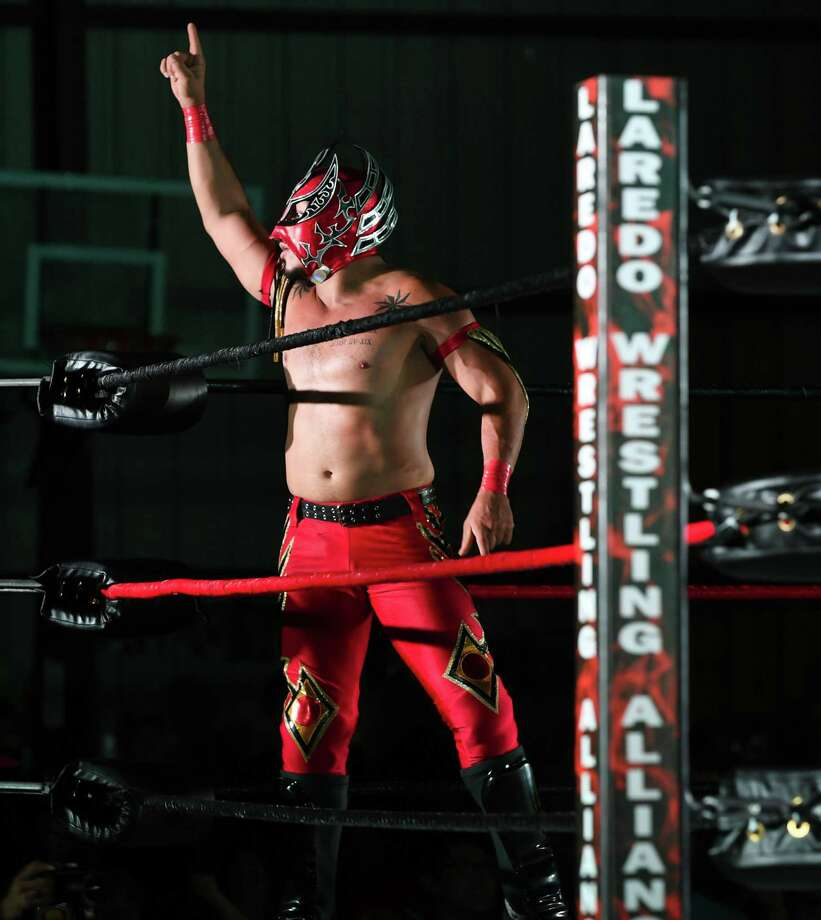 Laredo Kid is the current AAA World Cruiserweight champion and one-third of the AAA World Trios champions along with El Hijo del Vikingo and Myzteziz Jr. Photo: Danny Zaragoza /Laredo Morning Times File