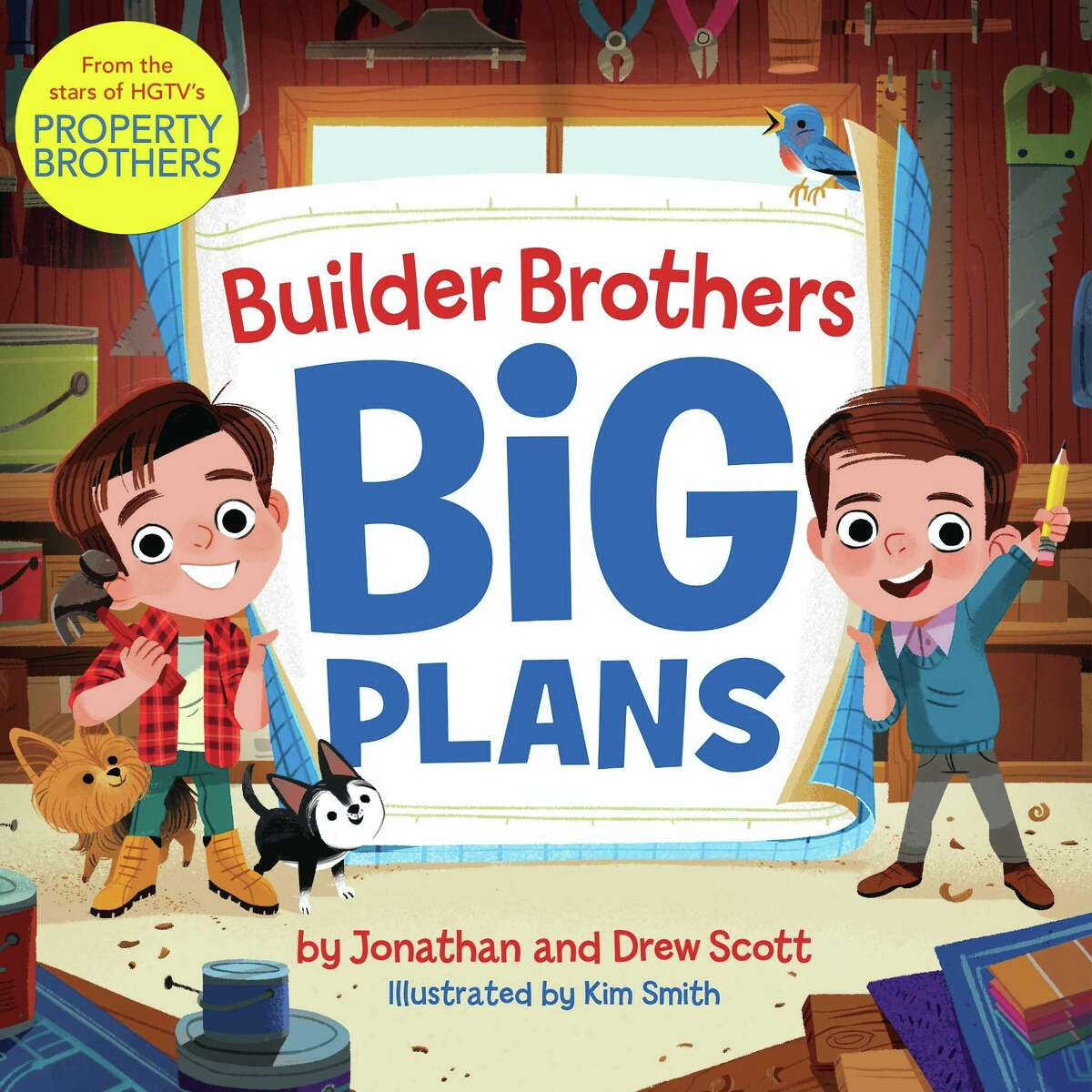 """Jonathan and Drew Scott's new book, titled """"Builder Brothers: Big Plans,"""" is targeted to children."""