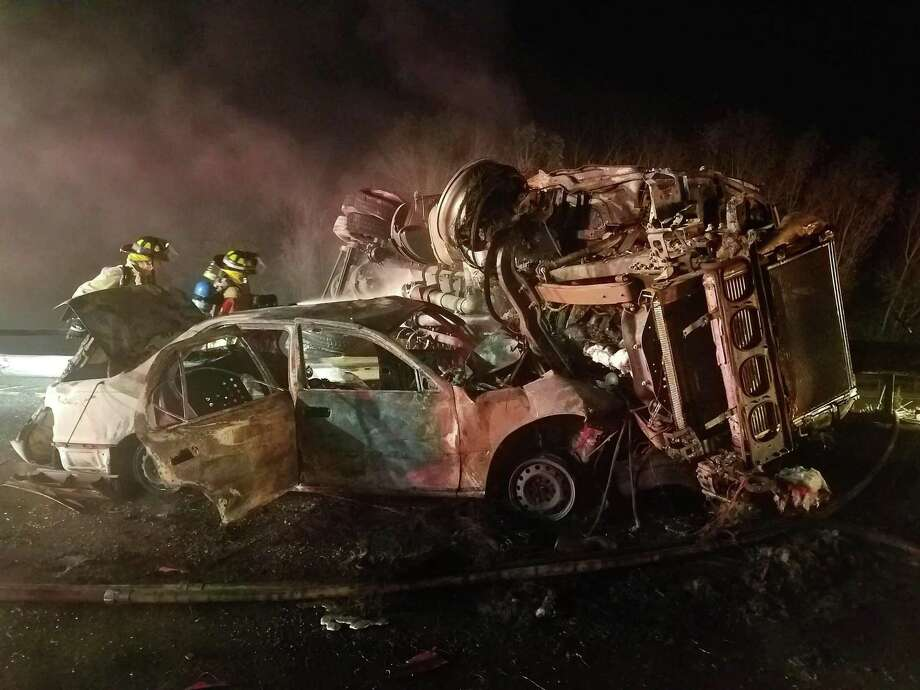 At least one person was killed during a serious crash on Interstate 84 near Exit 17 in Kent, NY early Monday morning. Photo: / Contributed