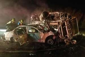 At least one person was killed during a serious crash on Interstate 84 near Exit 17 in Kent, NY early Monday morning.