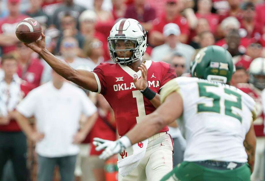 PHOTOS: NFL's best available free agents  Oklahoma quarterback Kyler Murray (1) passes against Baylor in the first half of an NCAA college football game in Norman, Okla., Saturday, Sept. 29, 2018. (AP Photo/Alonzo Adams)   >>>See which players remain available ...   Photo: Alonzo Adams, Associated Press / Copyright 2018 The Associated Press. All rights reserved.