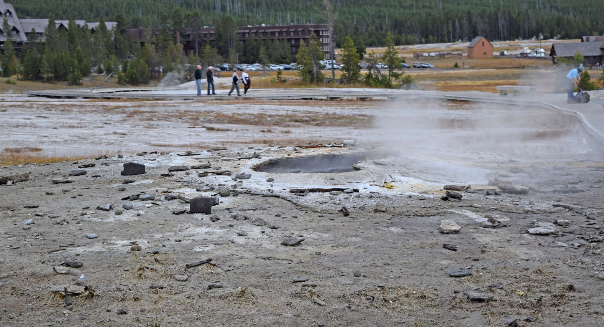 For years tourists tossed trash in a Yellowstone geyser. This stuff was just cou...