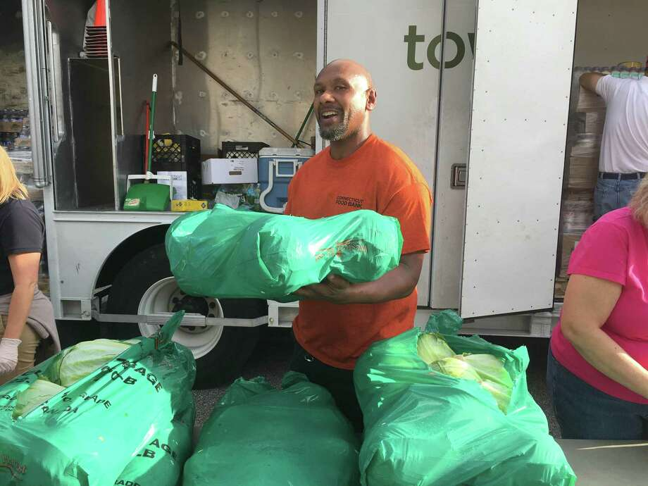 Connecticut Food Bank employee Everette Medley of West Haven has traveled to Raleigh, N.C., to assist the Food Bank of Central & Eastern North Carolina in the wake of Hurricane Florence. Medley is there for a two-week commitment. Photo: Contributed Photo / Connecticut Food Bank