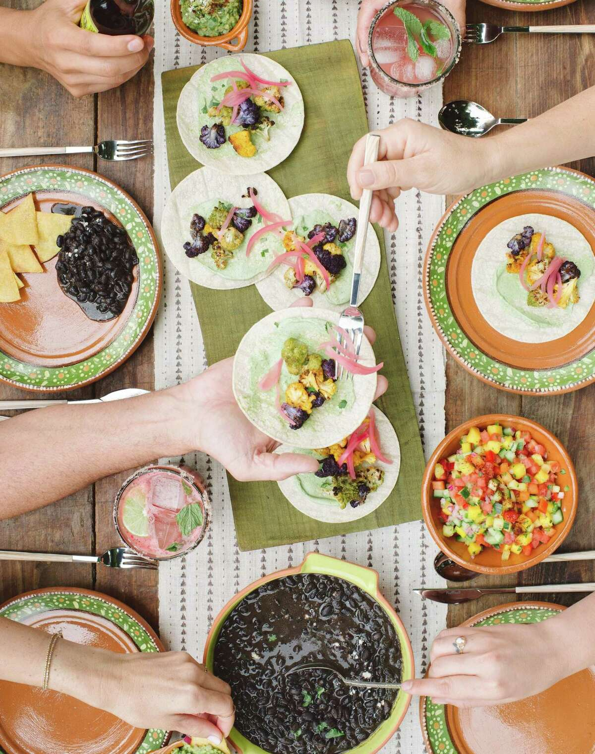 "Cauliflower ""Chorizo"" Tacos from ""Pull Up a Chair"" by Tiffani Thiessen."