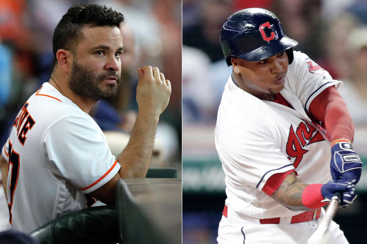 The Astros' Jose Altuve (left) was last year's American League Most Valuable Player while the Indians' Jose Ramirez finished third in the voting.