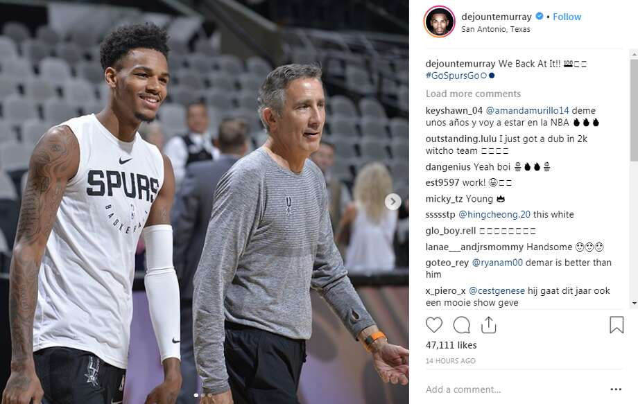Dejounte Murray: We Back At It!! Photo: Instagram Screengrab