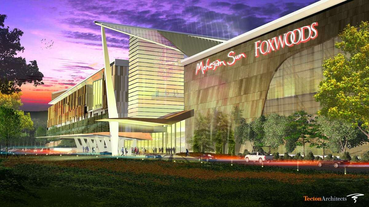 An artist's rendering of a proposed Foxwoods and Mohegan Sun casino to be built in East Windsor, Connecticut.