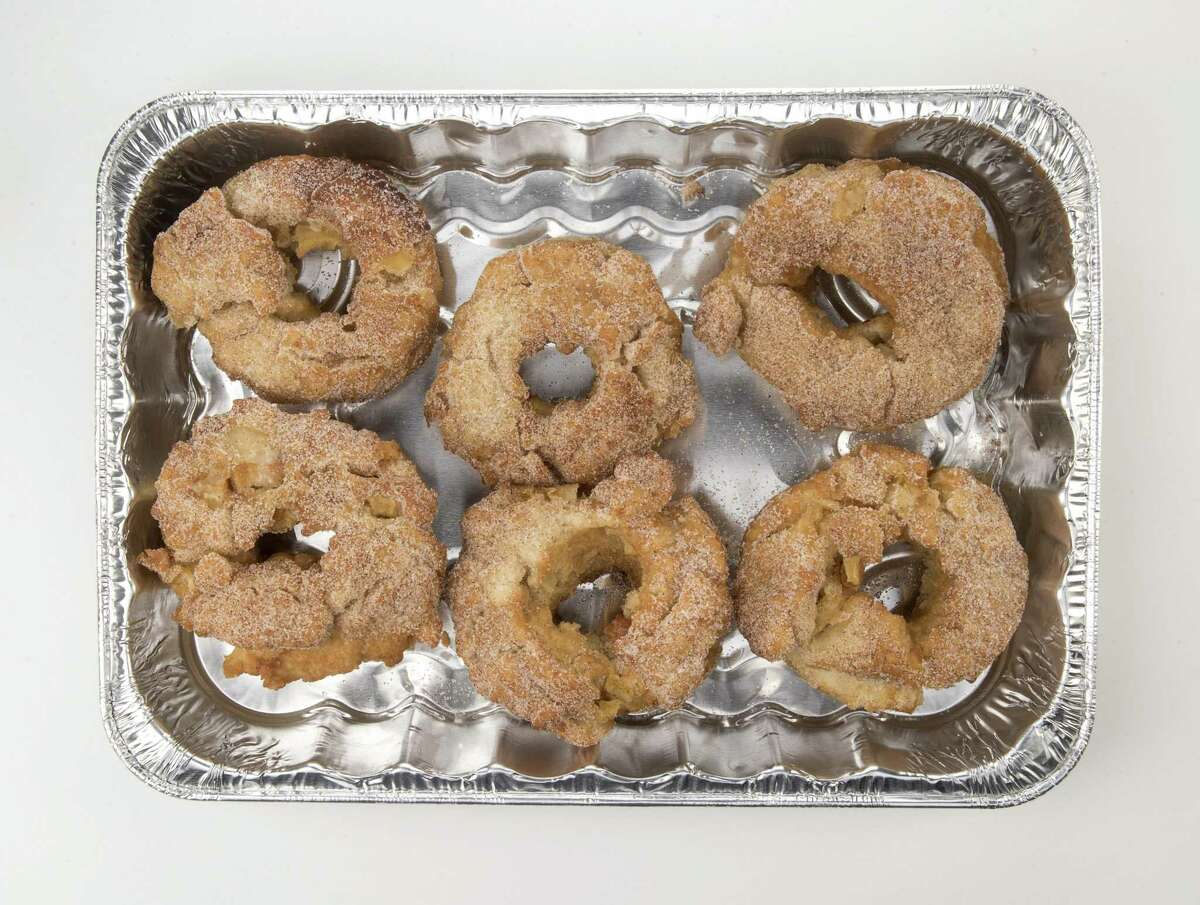 Apple cider doughnuts from a New York Times recipe