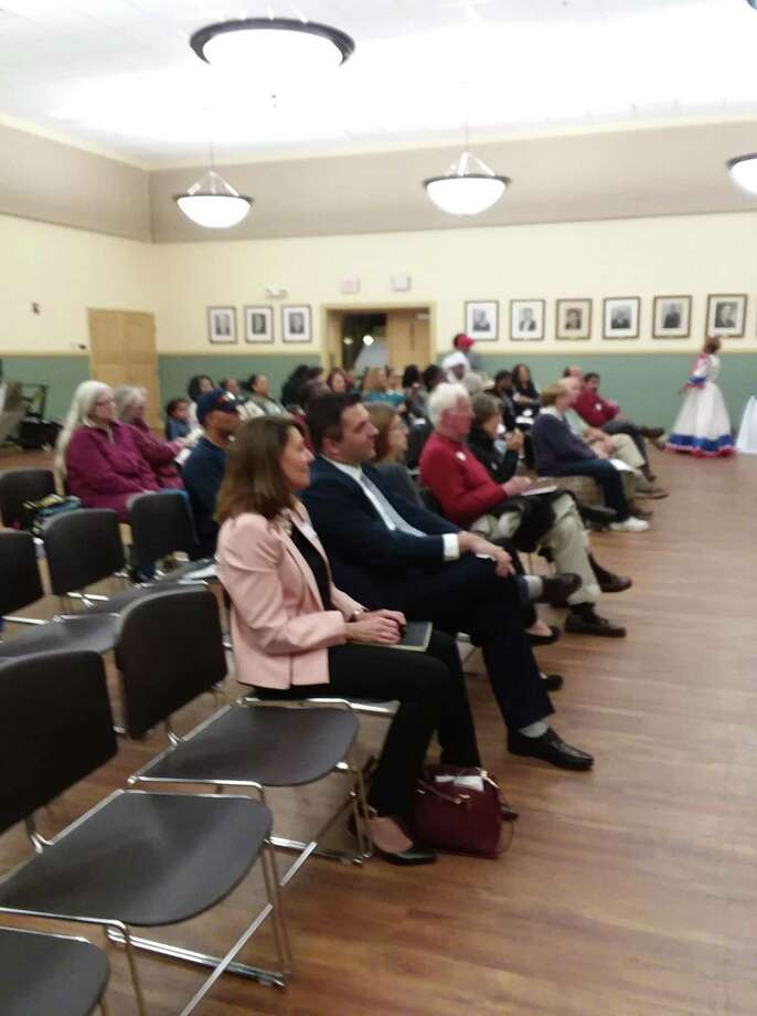 A group of about 70 people of varied backgrounds came together for an evening of cultural exchange and diversity, Sept. 24 at Torrington City Hall. Photo: Contributed Photo