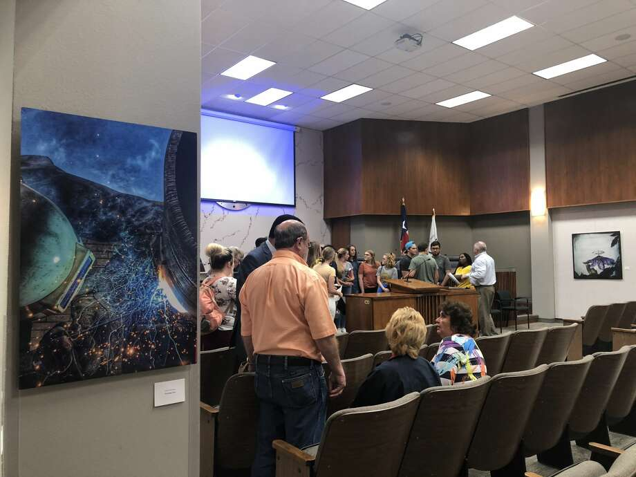 The Community Art Gallery at City Hall opened 9/25/18 as part of the ongoing ArtPocalypse, sponsored by Odessa Arts. Work of 15 artists from Odessa is on display in City Council Chambers for the next year.  Photo: Tori Aldana/191 News