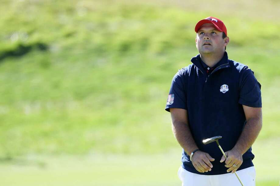 PARIS, FRANCE - SEPTEMBER 30:  Patrick Reed of the United States reacts to a putt on the second during singles matches of the 2018 Ryder Cup at Le Golf National on September 30, 2018 in Paris, France. Photo: Ross Kinnaird, Getty Images / 2018 Getty Images