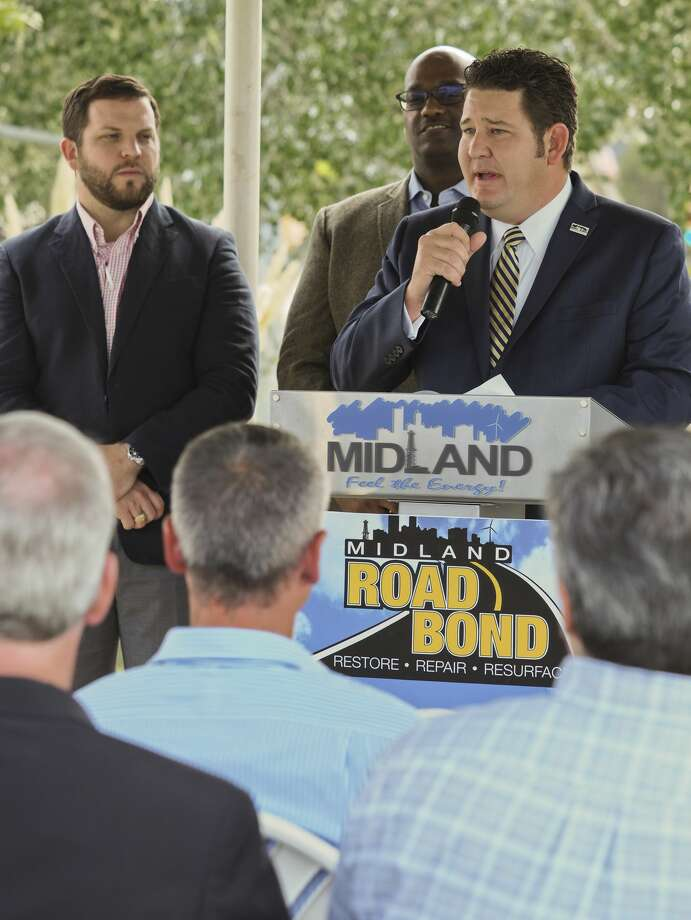 Midland city councilman J. Ross Lacy speaks 10/01/18 during a press conference near Cuthbert Avenue about the success of the road bond, completing projects, like Cuthbert, on time and under budget. Tim Fischer/Reporter-Tel­egram Photo: Tim Fischer/Midland Reporter-Telegram
