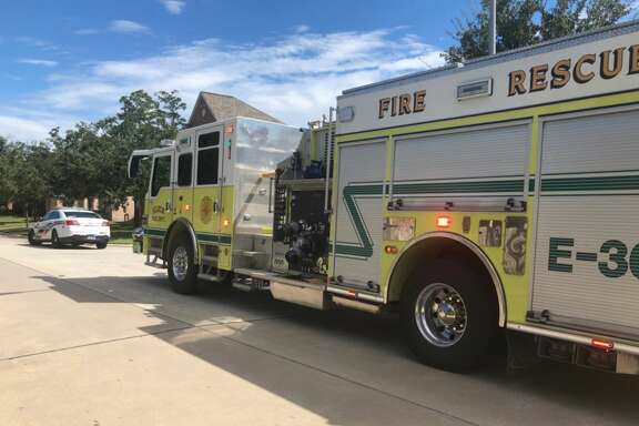 Several families were forced out of their homes Monday afternoon after a large gas leak was reported in northwest Harris County.