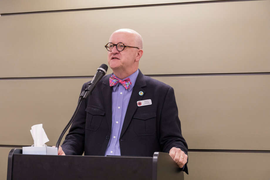 Arts Council of Midland executive director Danny Holeva speaks at the annual meeting. The ACM doled out its subgrants to area arts organizations. on Sept. 27. Grants were given for 2019 cultural projects to 18 organizations in Midland. Photo: Jacy Lewis Midland Reporter-Telegram