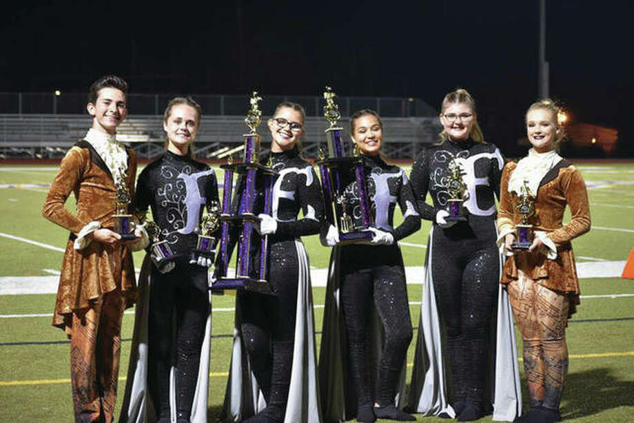 The EHS Marching Tigers Band at the Preview of Champions Marching Band Festival at McKendree University. Photo: For The Intelligencer