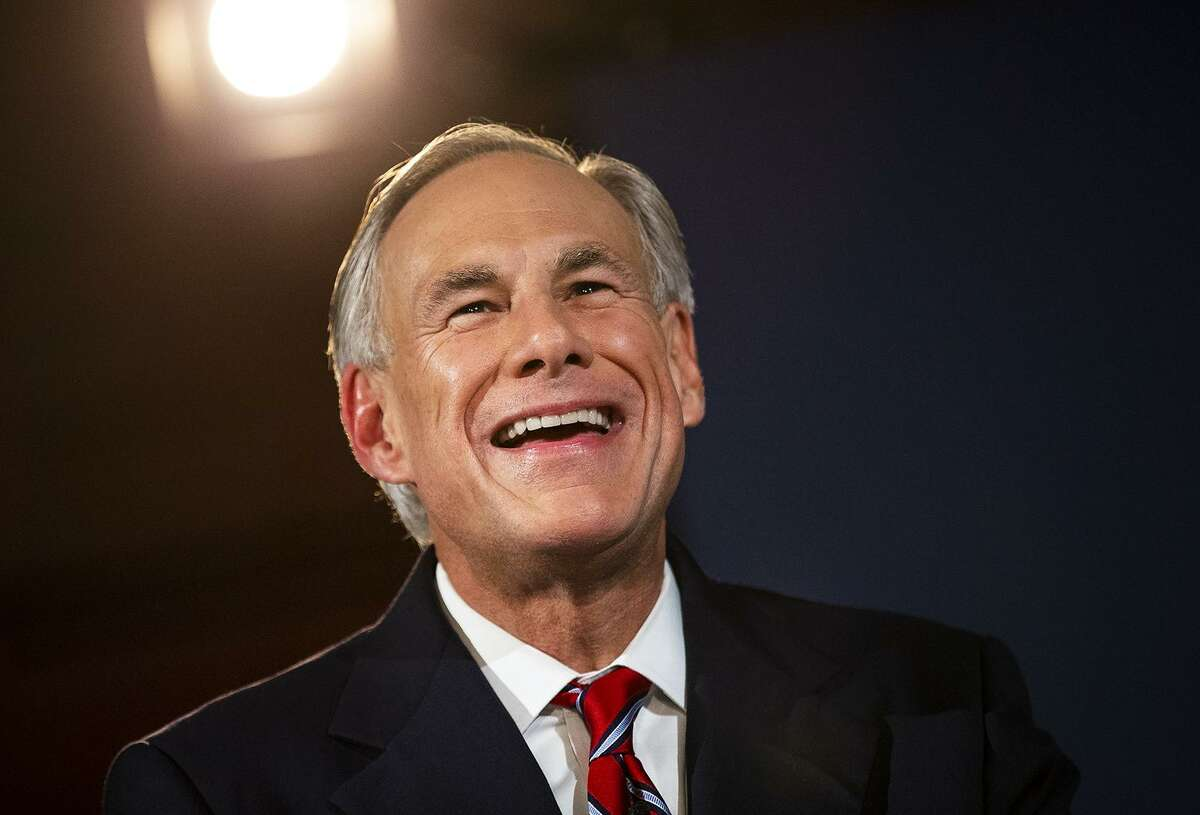 Texas Governor Greg Abbott smiles before a gubernatorial debate against his Democratic challenger Lupe Valdez at the LBJ Library in Austin, Texas, on Friday, Sept. 28, 2018. [NICK WAGNER/AMERICAN-STATESMAN]