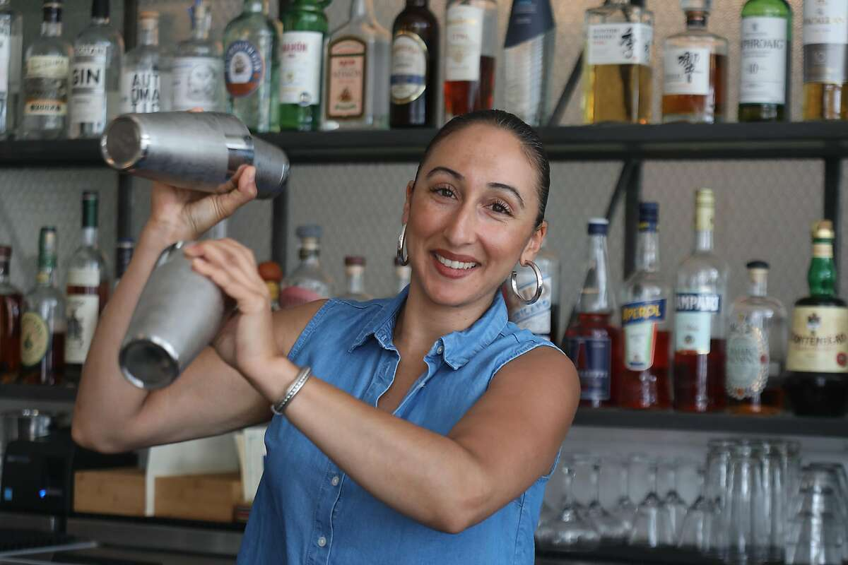 Bar manager Nahiel Nazzal makes cocktails at Pearl, a restaurant in the outer Richmond on Friday, Sept. 21, 2018, in San Francisco, Calif.