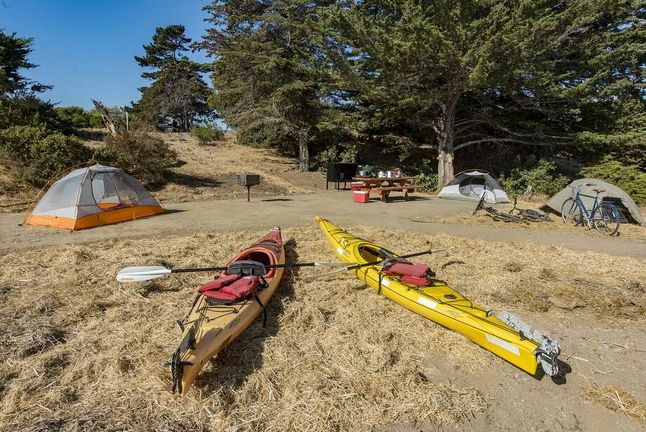 One of six new campsites at Candlestick Point State Recreation Area that opened to the public on Oct. 1, 2018. Photo: Brian Baer / California State Parks