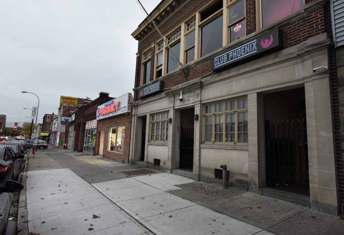 Exterior of Club Phoenix on Central Ave. on Monday, Oct. 1, 2018, in Albany, N.Y. Joseph Davis, 42, died Monday after being shot several times in the torso early Saturday outside the nightclub. (Will Waldron/Times Union)