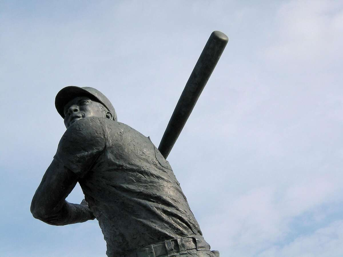 The statue of former Giant Willie McCovey at McCovey cove near AT&T Park in San Francisco.