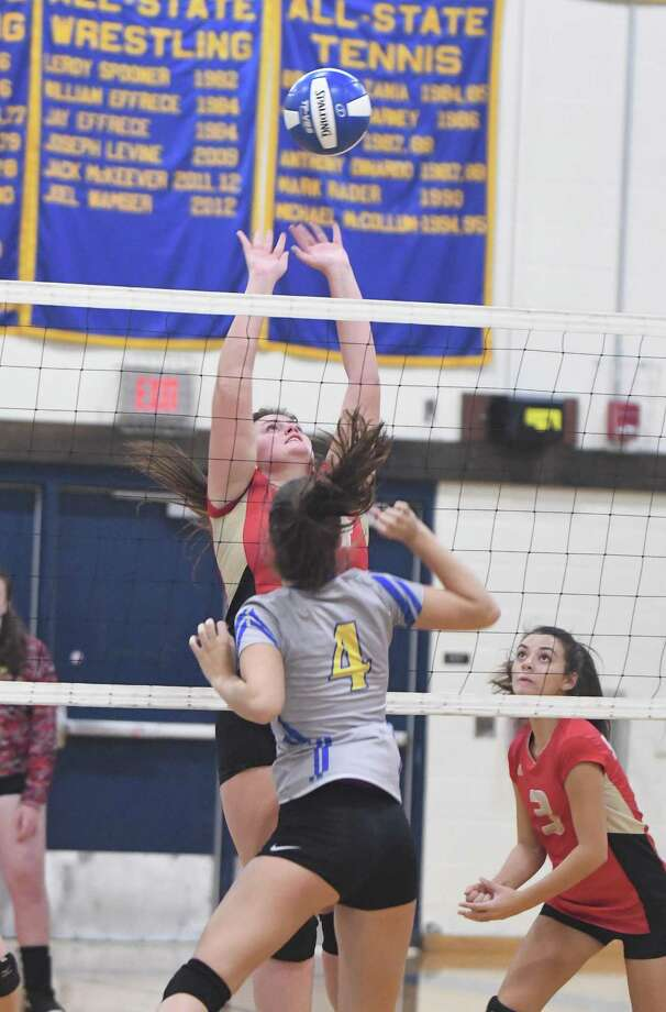 Stratford at Brookfield girls volleyball, Oct. 1, 2018. Photo: Krista Benson / For Hearst Connecticut Media / The News-Times Freelance