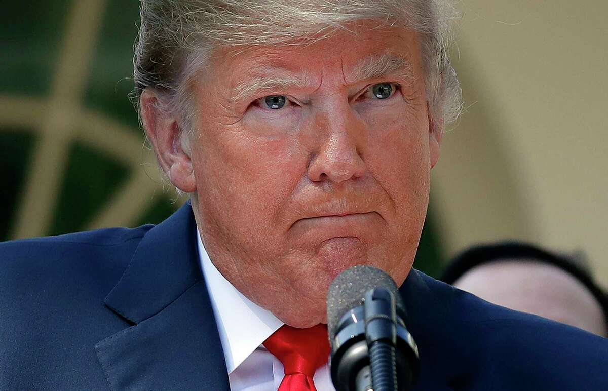President Donald Trump pauses as he takes questions from members of the media about Supreme Court nominee Judge Brett Kavanaugh in the Rose Garden of the White House in Washington, Monday, Oct. 1, 2018. (AP Photo/Pablo Martinez Monsivais)