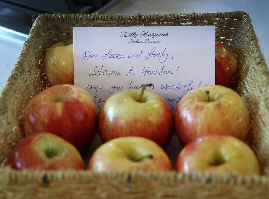 Lily Lazarus leaves a note for her guests at the Bellaire home that she rents out through Airbnb.
