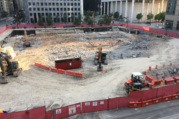 Hines has broken ground downtown on an office tower on the former Houston Chronicle building site in the 800 block of Texas.